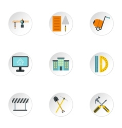 Repair icons set flat style vector