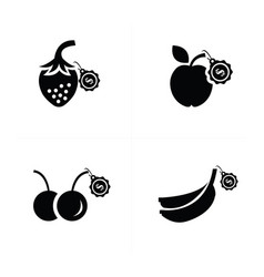 Sale fruit icon vector