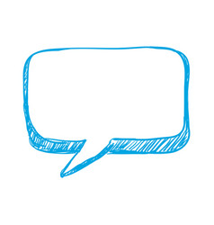 Silhouette chat bubbles to message icon vector
