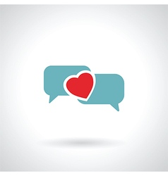 speech bubble heart vector image