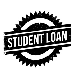 Student loan stamp vector image