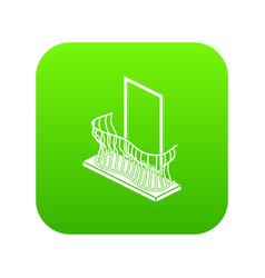 stylish balcony icon green vector image