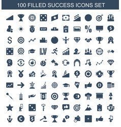 Success icons vector
