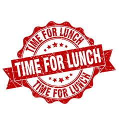 time for lunch stamp sign seal vector image