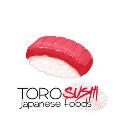 Toro sushi vector