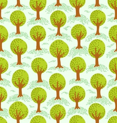 Trees pattern vector image vector image
