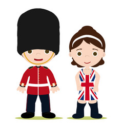 uk couple vector image