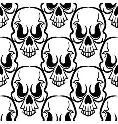 vintage skulls pattern vector image
