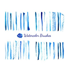 Watercolor brushes vector