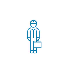white collar linear icon concept white collar vector image