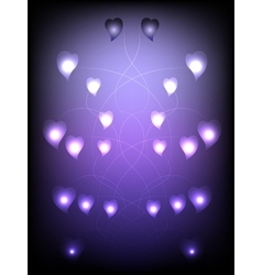 Abstract background with hearts connected EPS10 vector image
