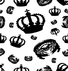 crown on white vector image