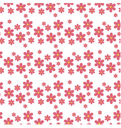 floral pattern seamless with flowers gentle vector image