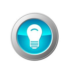 light bulb button vector image