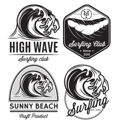 set of patterns for design logos on the theme of vector image vector image