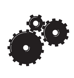 three gears vector image vector image