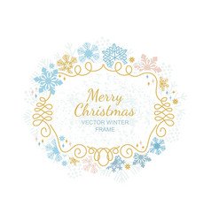 xmas snowflake frame christmas framework vector image