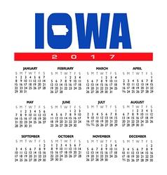 2017 Iowa calendar vector image vector image
