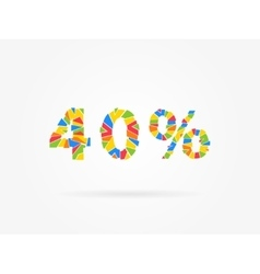 Discount 40 percent colorful vector image vector image