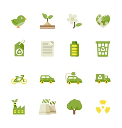 Ecology icons and Environment icons vector image vector image