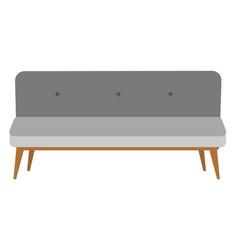 modern gray settee cartoon vector image vector image