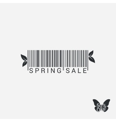 Spring Sale Bar code Design Background vector image