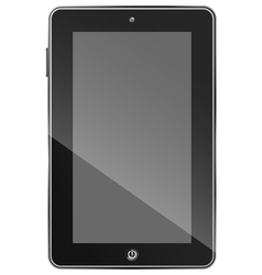 Black tablet PC eps10 vector image