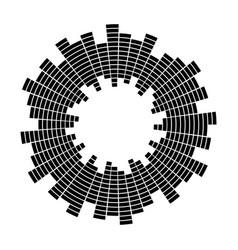 equalizer music sound wave circle symbol vector image vector image