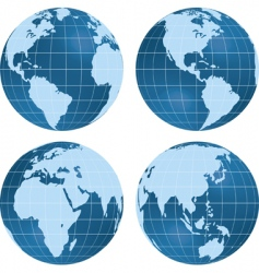 globe views vector image vector image