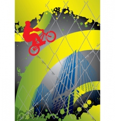 guy with BMX vector image