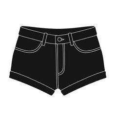short purple women s shorts with a blue rubber vector image vector image
