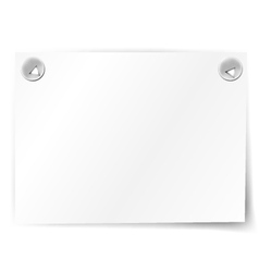 white paper note vector image vector image