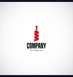 wine bottle company logo vector image