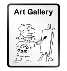 Art Gallery Information Sign vector image