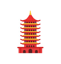 chinese pagoda building cartoon multi-tiered vector image