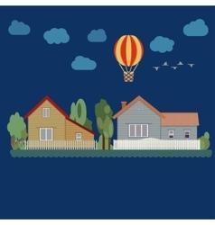 Houses - urban landscape vector image vector image