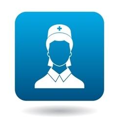 Nurse icon in simple style vector image vector image