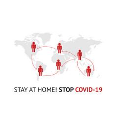 2019-ncov covid19 spread infographic stay vector