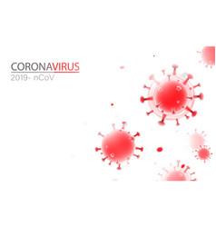 abstract 3d coronavirus background coronavirus vector image