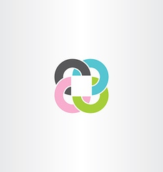 abstract business circles and square colorful logo vector image