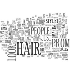 african american hair style for the prom text vector image