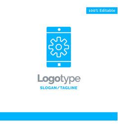 application mobile mobile application setting vector image
