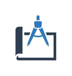 Architect planning icon vector