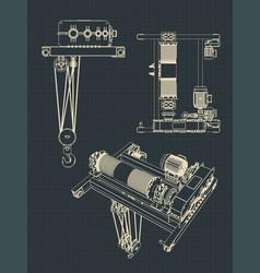 beam crane drawings vector image