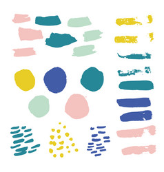 Bright collection hand-drawn elements drops vector