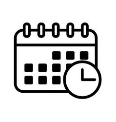 Calendar icon schedule date symbol vector