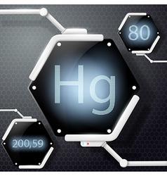 Chemical element mercury vector