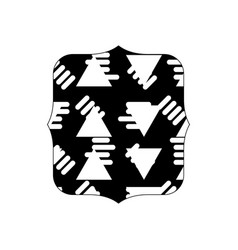 Contour quadrate with abstract graphic design vector