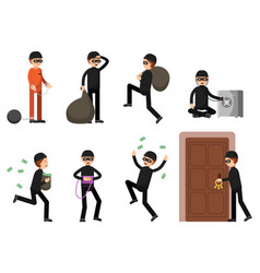 criminal of thief characters vector image