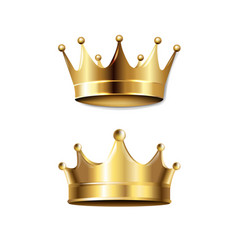 crown set isolated vector image
